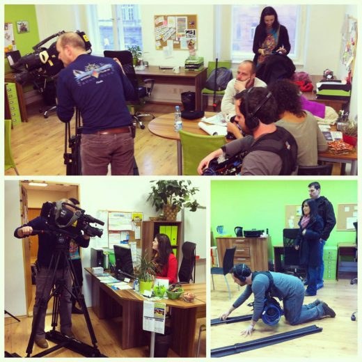 Shooting in the office Foreigners.cz Brno 2