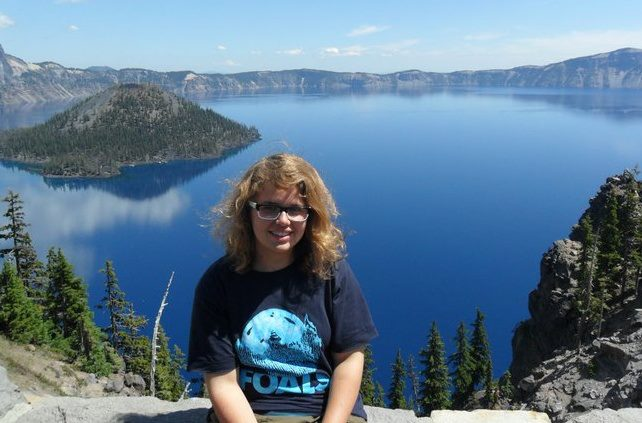 Marie at Crater Lake National Park, OR