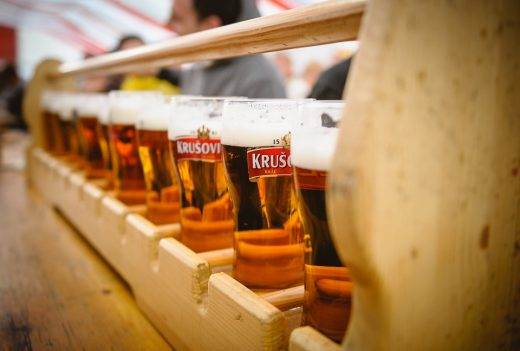 Czech beer served at Beer festival