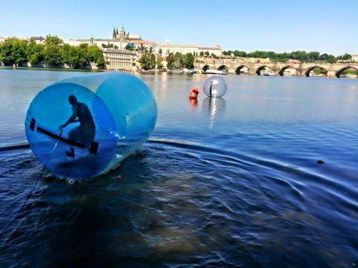 Water zorbing Prague