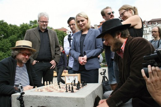 Outdoor chess boards in Prague 2