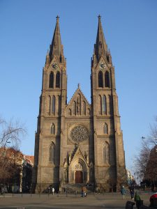 St.Ludmila's Church at Namesti miru in Prague