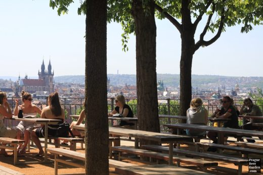 Overlooking Prague's city center