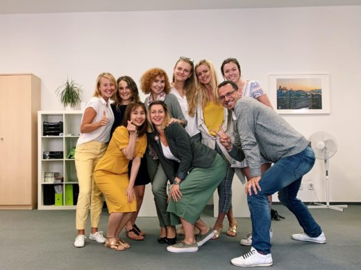 Martina and her colleagues in Foreigners Prague Office