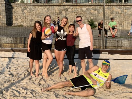 Beach volleyball with Foreigners Prague team