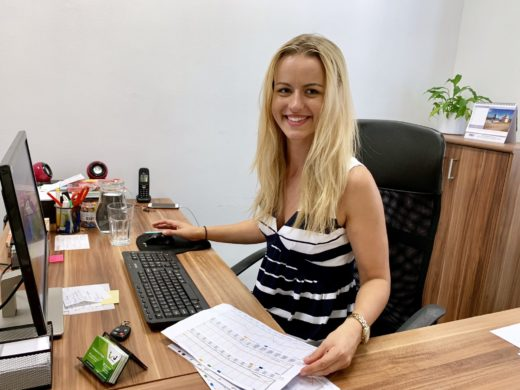 Martina at the Prague office
