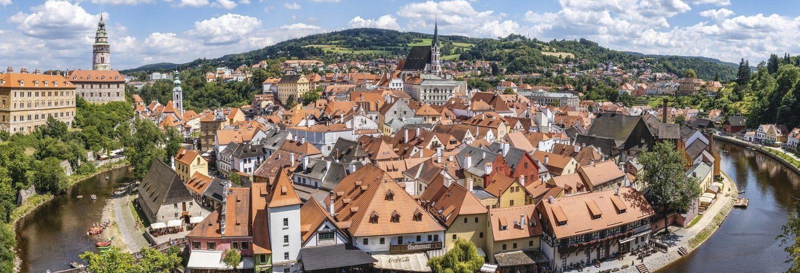 The view of Český Krumlov