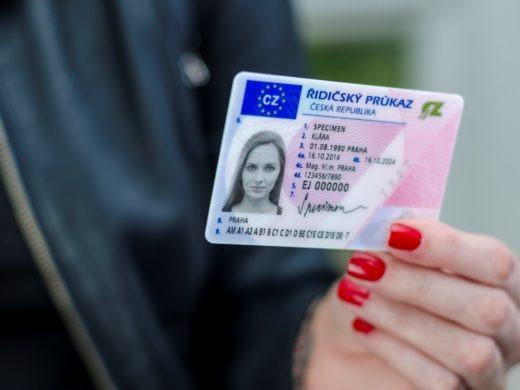 Czech Driving License Card