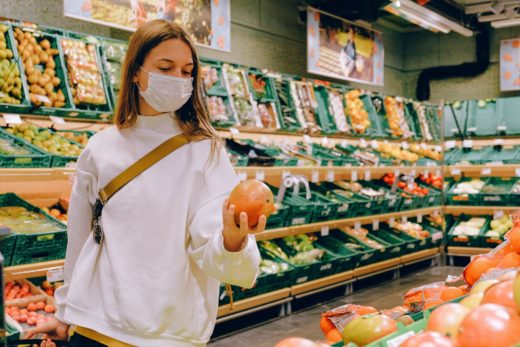 young woman shopping during COVID-19 pandemic