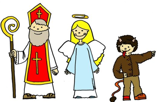 Three main characters of St. Nicholas Day