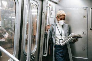Respirators on public transport