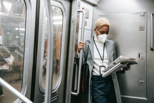 Respirators on public transport