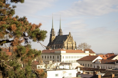 The Cathedral of St. Peter and Paul located on Petrov hill